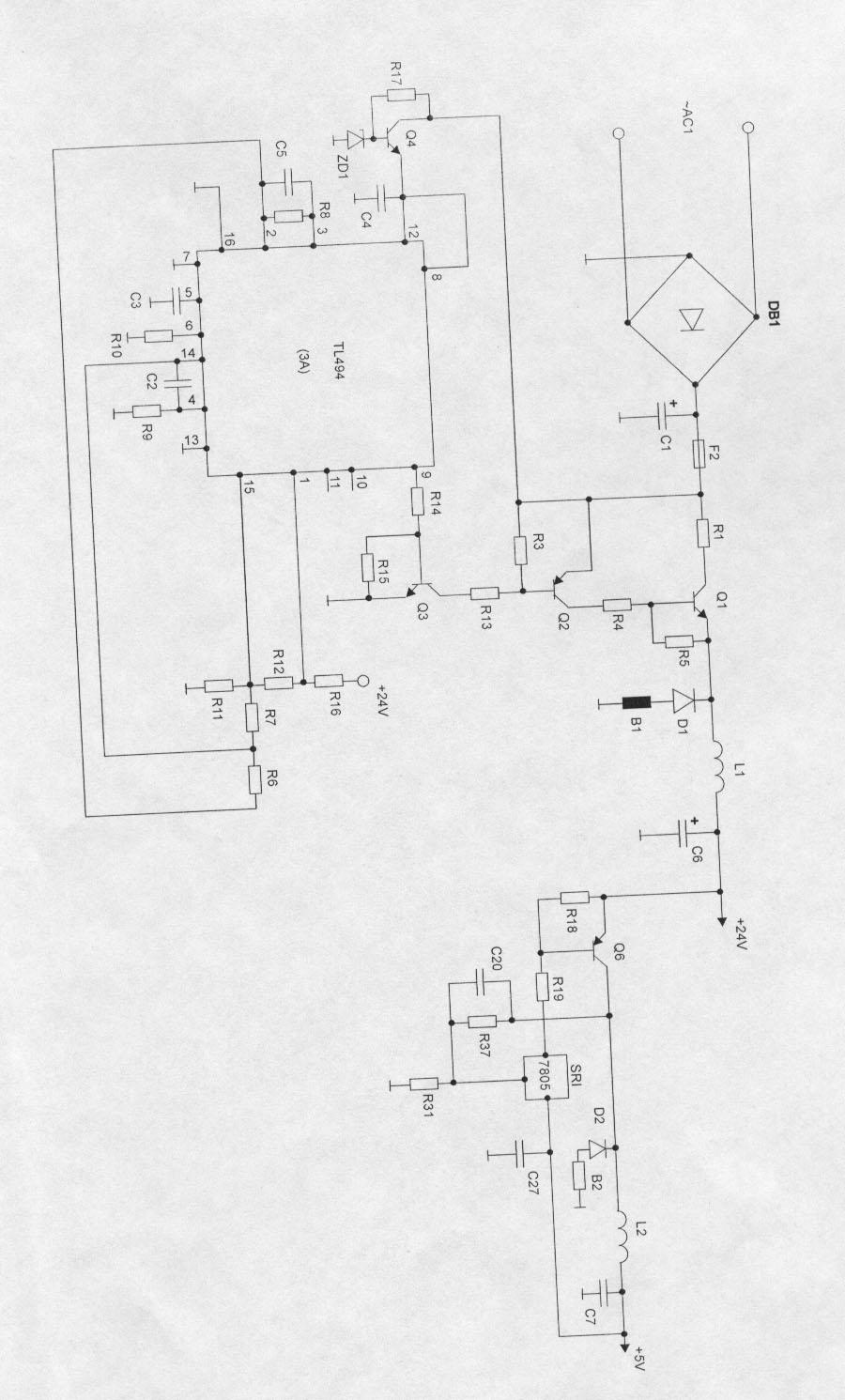 Принципиальная электрическая схема сварочного полуавтомата 856